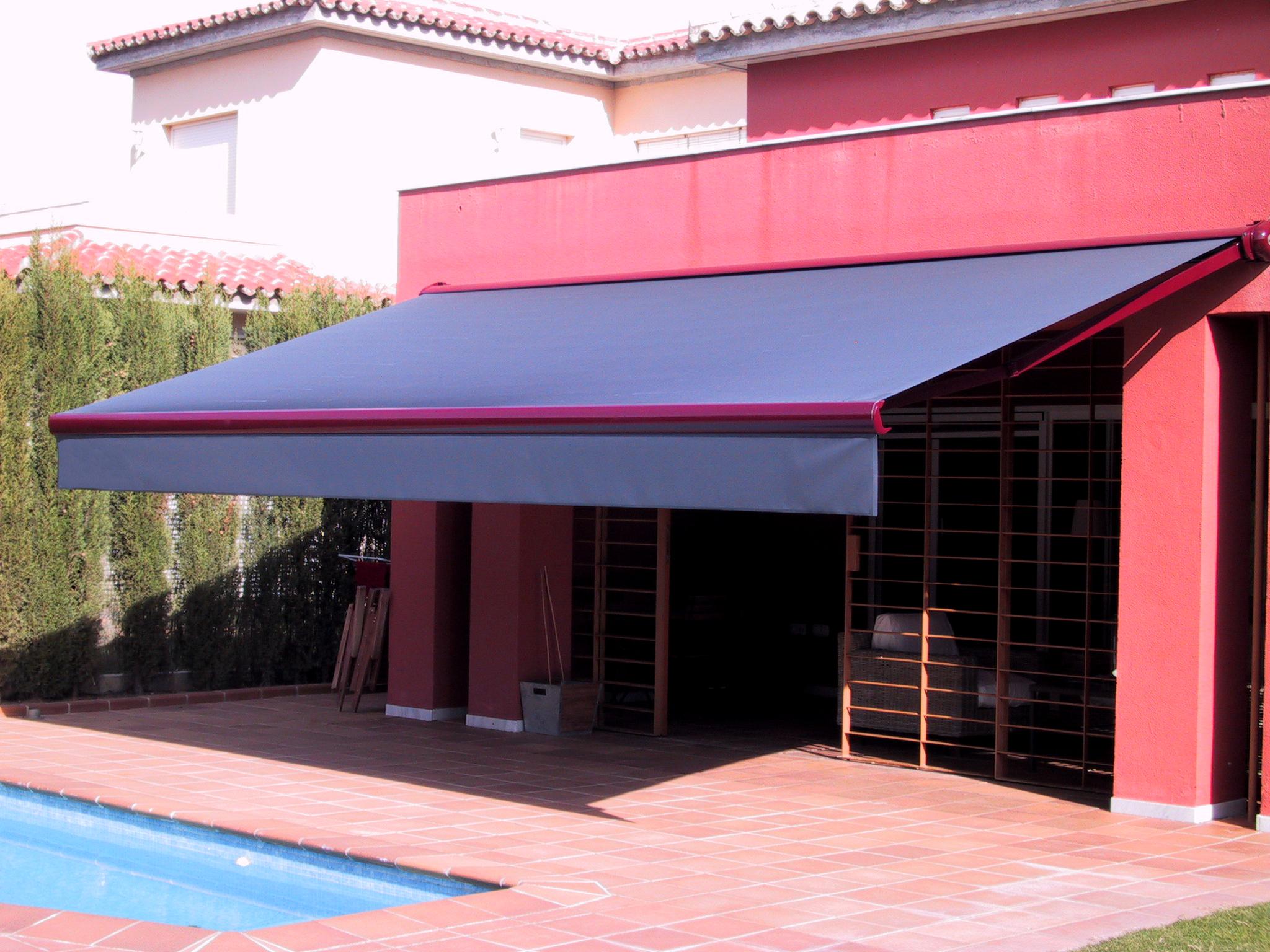 Toldos p rgolas y cortinas de interior cecal 2009 for Mecanismos para toldos de lona